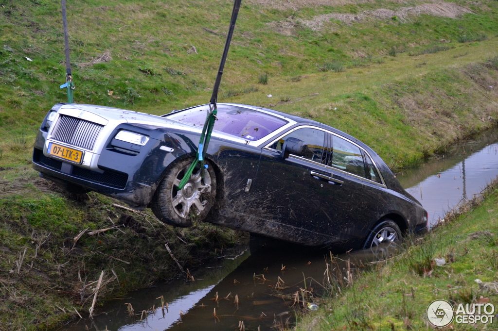 Rolls Royce Ghost Crash In The Netherlands Hartvoorautos Nl