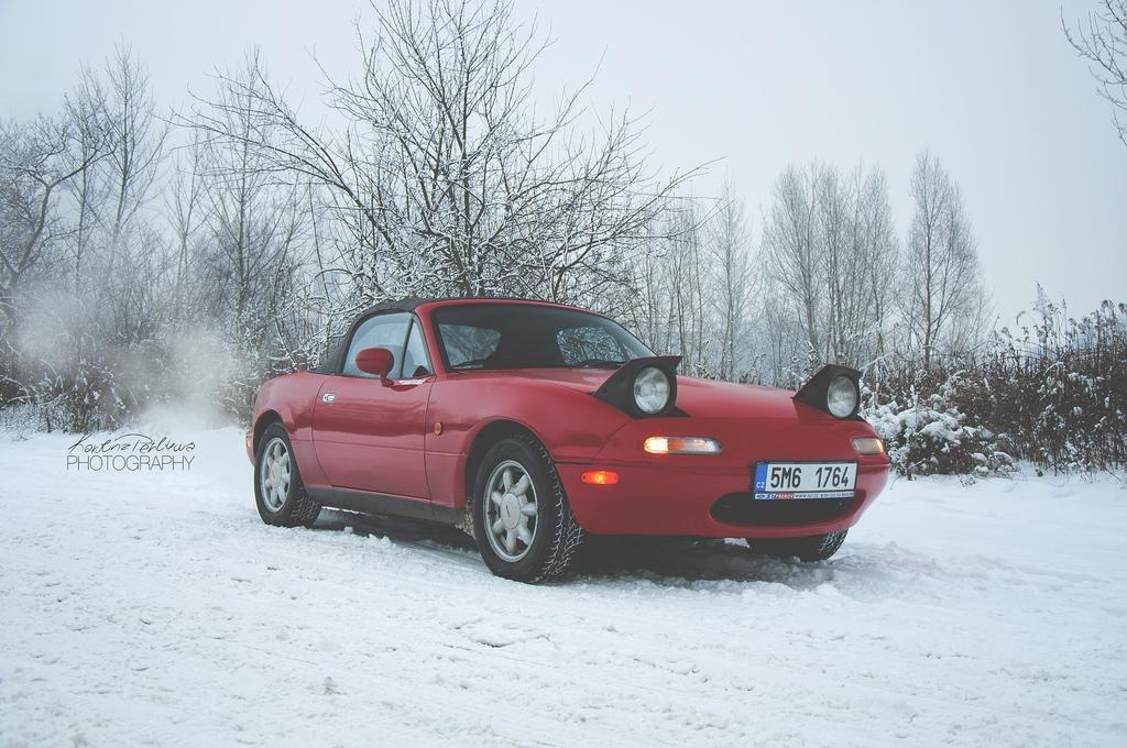 Mazda MX-5, Mazda, MX-5, Sneeuw, Driften