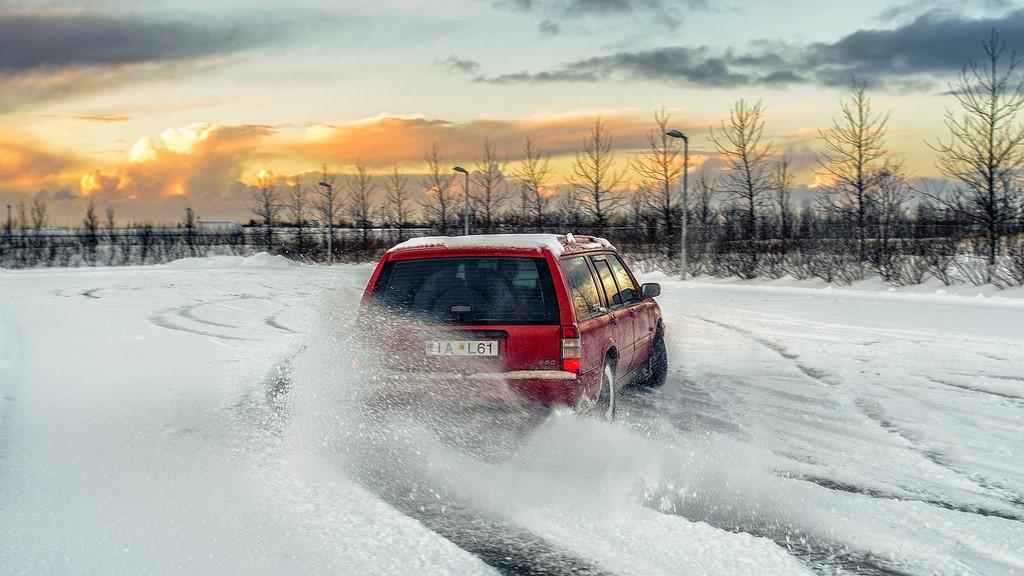 Volvo 960, Volvo, 960, Sneeuw, Driften