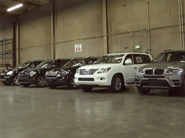 Stolen Luxury Cars Caught Leaving L.A. for Asia