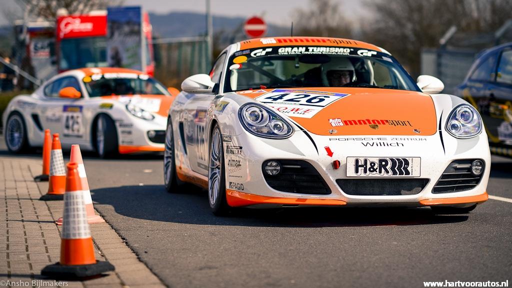 2x Porsche Cayman - Granturismo Events Nurburgring 2012 - Hartvoorautos.nl
