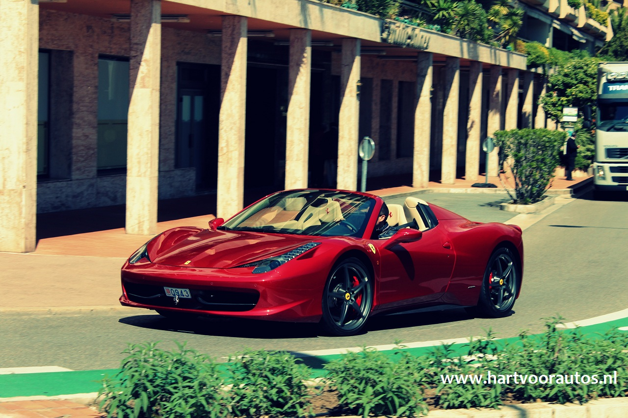 Ferrari 458 Spider - Top Marques 2012 - www.hartvoorautos.nl
