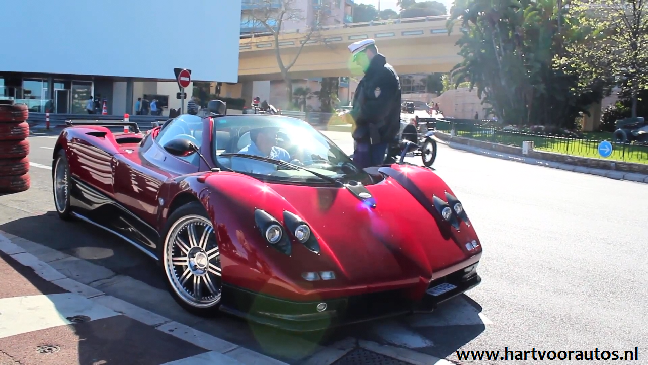 Pagani Zonda S Roadster Pulled Over - www.hartvoorautos.nl