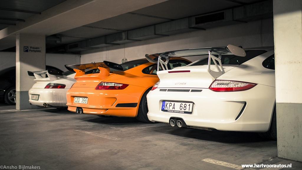 Porsche GT3 Trio - Granturismo Events Nurburgring 2012 - Hartvoorautos.nl
