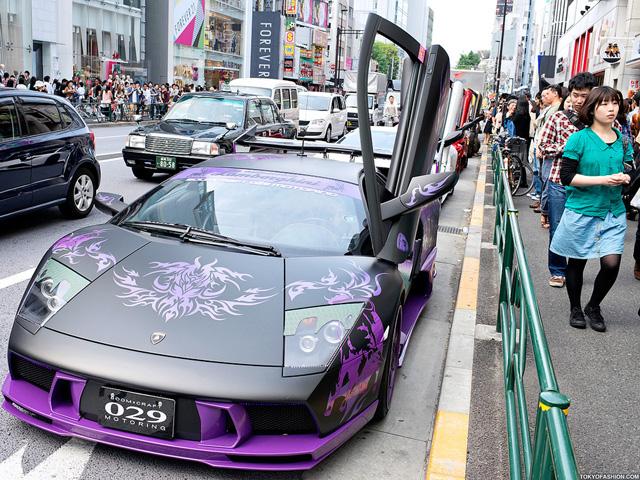 Lamborghini's in Tokyo - www.hartvoorautos.nl