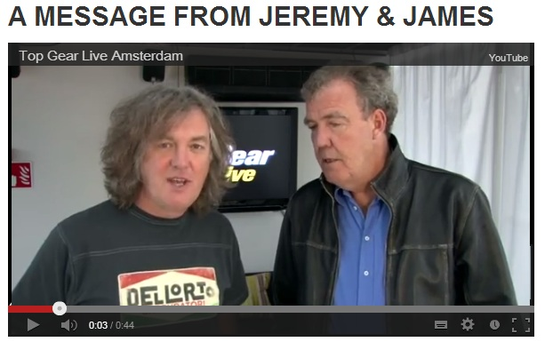 A message from Jeremy & James - TopGear Live