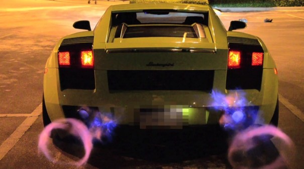 Lamborghini Gallardo Twin Turbo Shooting Flames - www.hartvoorautos.nl
