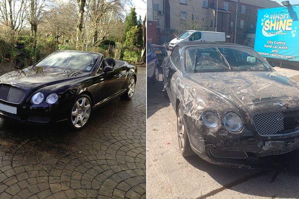 Bentley Crash in Car Wash - www.hartvoorautos.nl