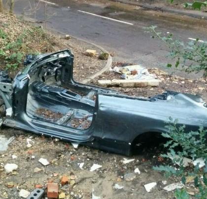 Destroyed Audi RS5 - www.hartvoorautos.nl