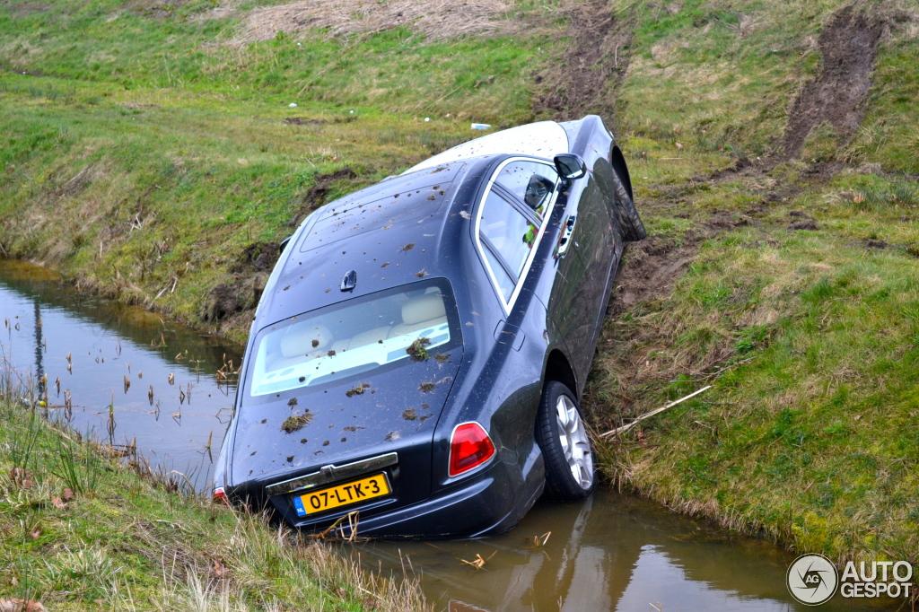 Rolls Royce Ghost Crash In The Netherlands Hartvoorautos Nl