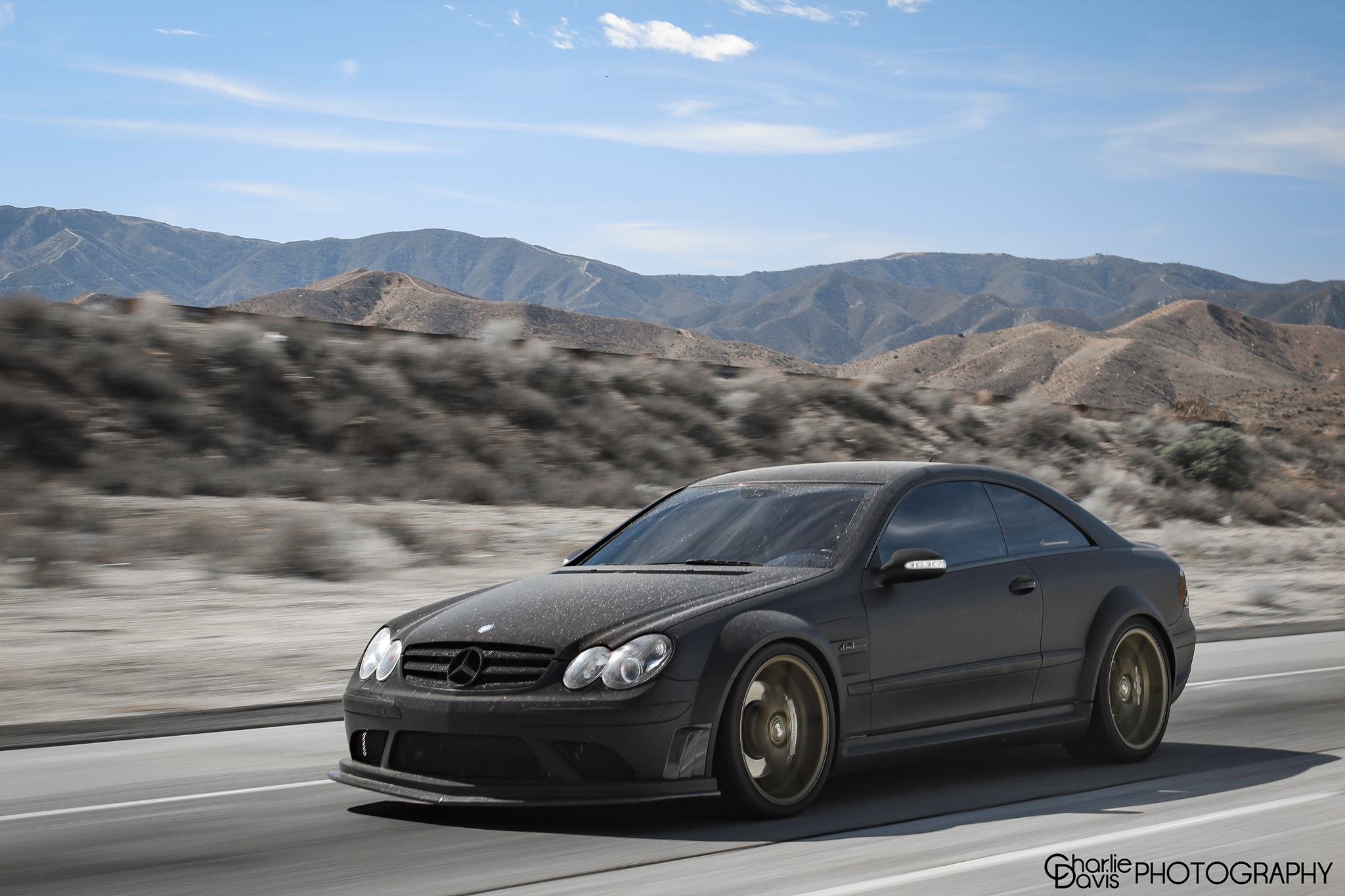 Pictures video clk63 amg black series in the desert for Mercedes benz clk63 amg black series for sale