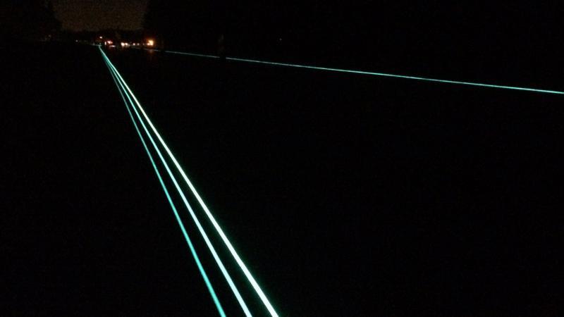 Glow in the dark snelweg