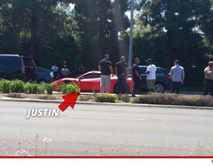 Justin Bieber Car Crash