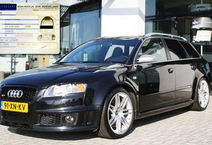Gestolen Audi RS4