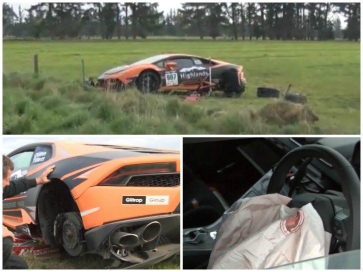 Lamborghini Huracán crasht in Nieuw-Zeeland