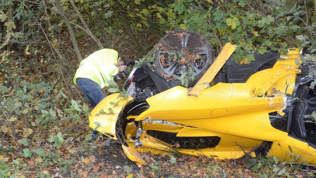 McLaren MP4-12C Crash