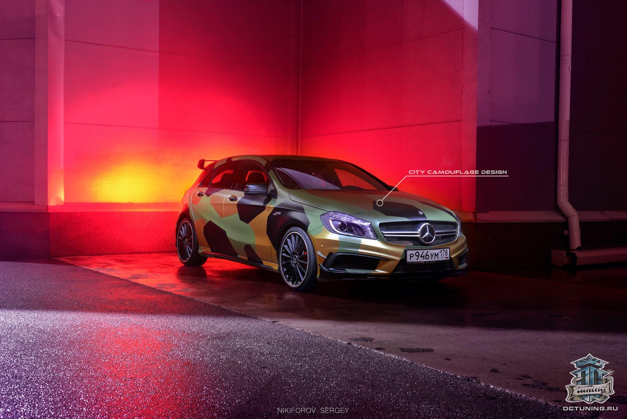 Mercedes-Benz A45 AMG Camo Wrap