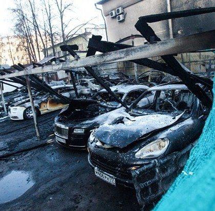 Rolls-Royce Burned