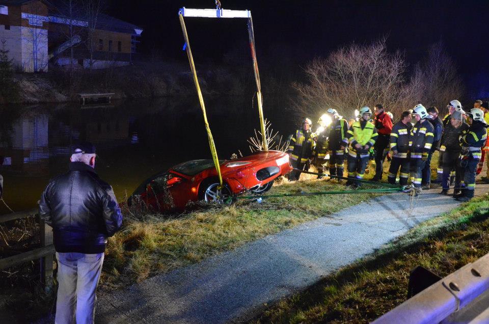 Ferrari F430 Spider Crash
