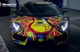 Lamborghini Aventador Psychedelic Wrap