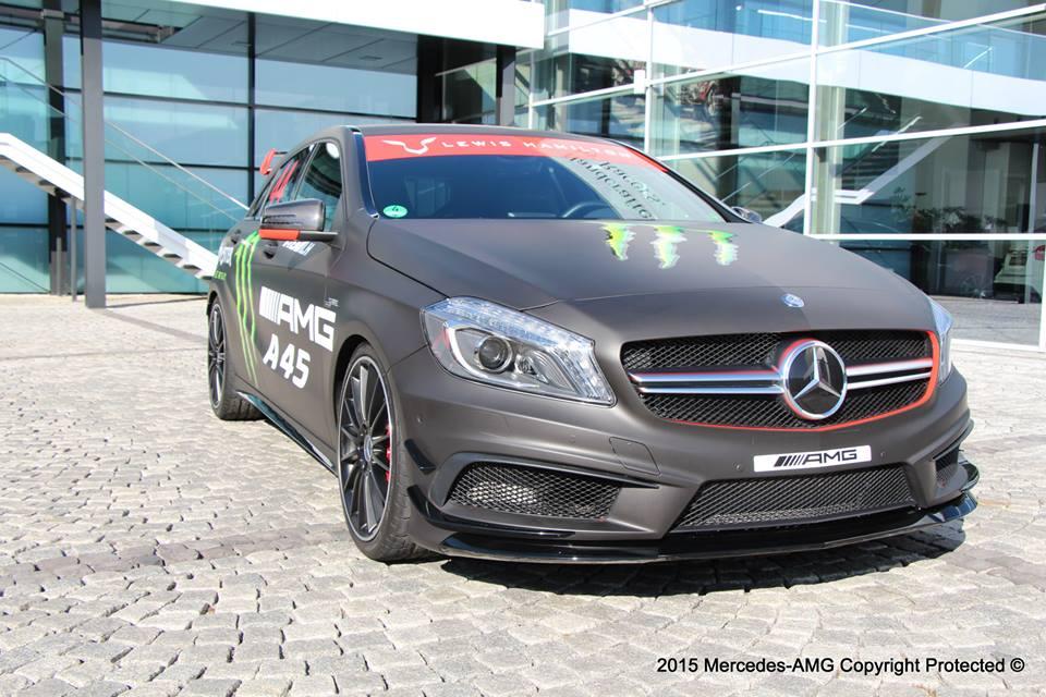Lewis Hamilton Mercedes-Benz A45 AMG