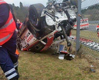 Nissan GT-R Crash Nurburgring