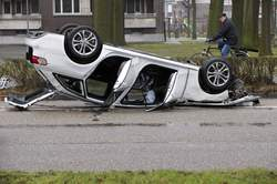 Audi S4 Crash Belgie