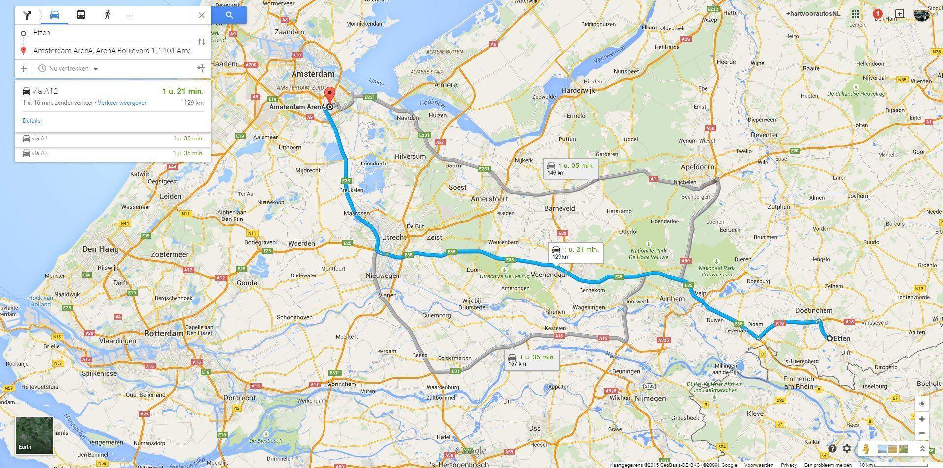 Gumball 3000 Route Nederland