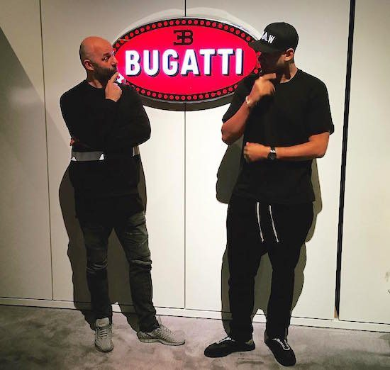 DJ Afrojack Bugatti Chiron