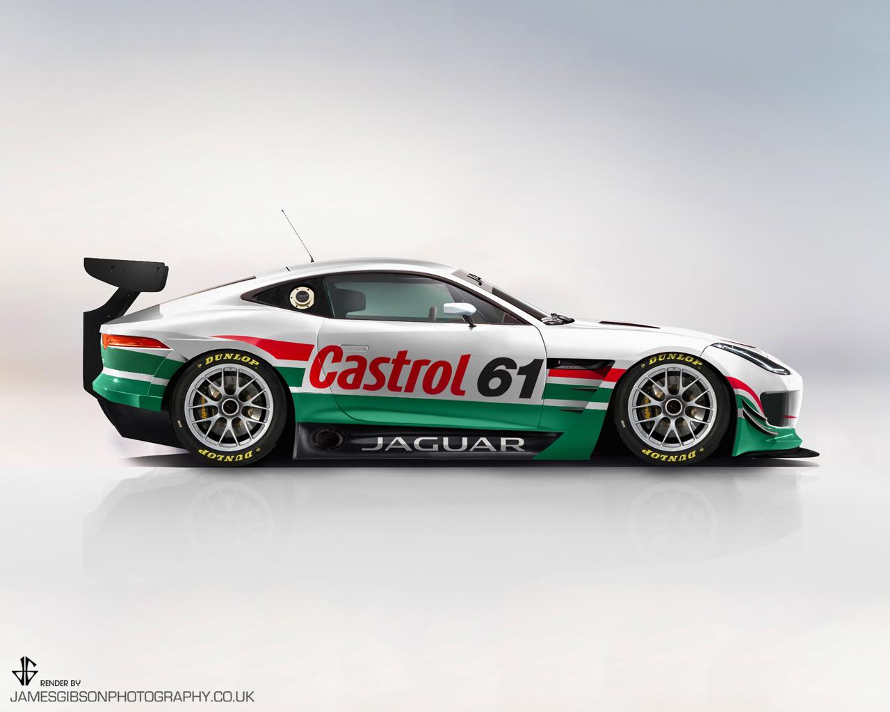 Jaguar F-Type Race render