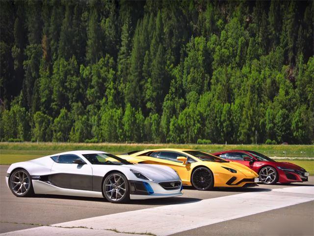 Dragrace Aventador S, Rimac, NSX