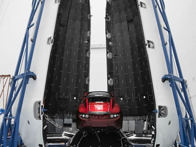 Tesla Roadster Space