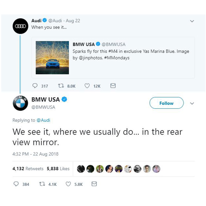 Audi BMW Twitter