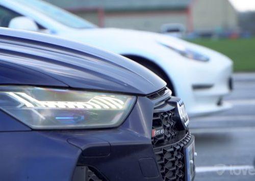 [VIDEO] 2020 Audi RS6 vs Tesla Model 3 Performance!