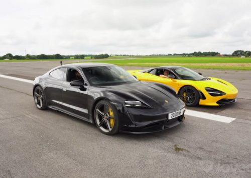 [VIDEO] Porsche Taycan Turbo S vs McLaren 720S Spider!