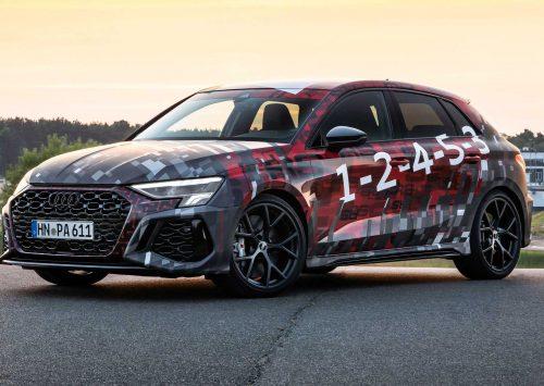 2022 Audi RS3 behoudt turbocharged vijfcilinder!!
