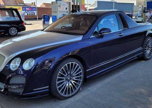 Chique custom-made Bentley Flying Spur Pick-up, trekt nodige aandacht!
